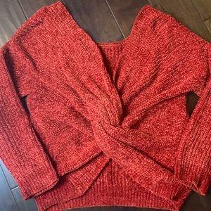 Hippie Rose Sweater Back Detail Orange